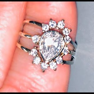 Nordstrom CZ silver plated ring